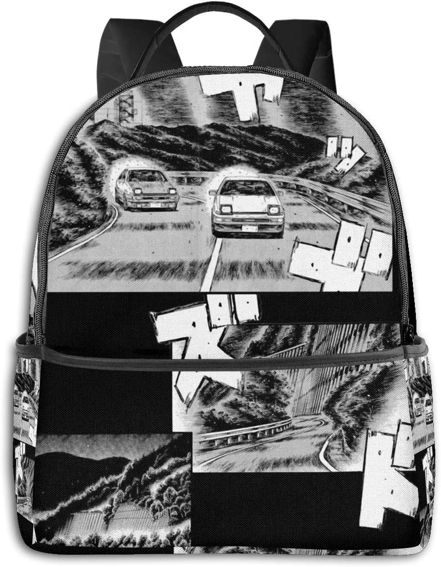 Anime & Initial D Manga Print Student School Bag School Cycling Leisure Travel Camping Outdoor Backpack