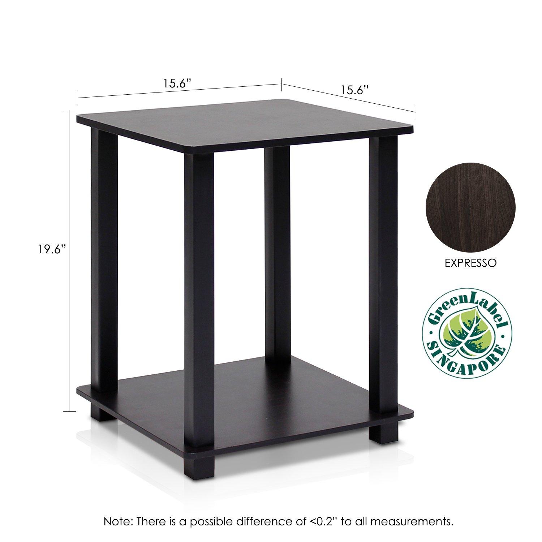 Amazon.com: Furinno 12127EX/BK Simplistic End Table, Espresso/Black, Set Of  2: Kitchen U0026 Dining
