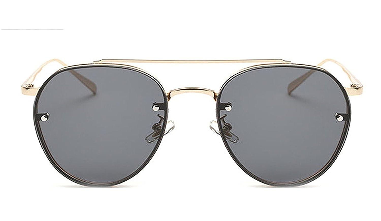 050059fbd3a4 Amazon.com: Puissant Fashion Clear Lens Round Women Sunglasses Men Vintage  Double Beam Sun Glasses Ladies Female NEW,OneSize,Multi1: Clothing