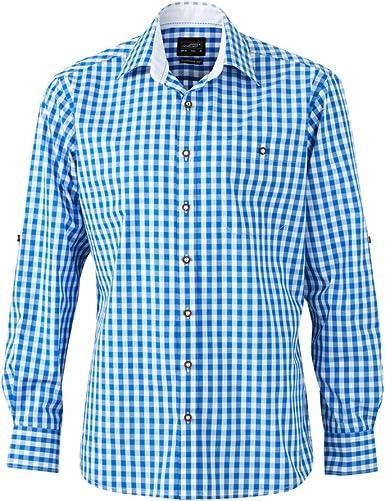 James & Nicholson – Camisa Tradicional de Cuadros Manga Larga ...