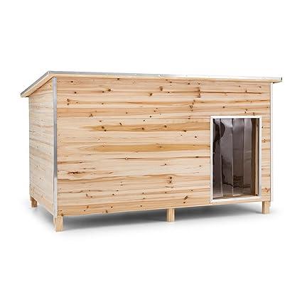 oneConcept Schloss Wuff Caseta para perros de madera XXL (160 x 105 x 100 cm