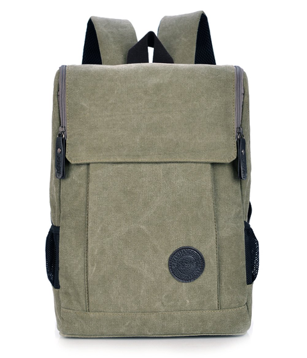 ecokaki ( TM ) Casual LaptopバックパックCanvas Rucksack for CollegeスクールTravel Bag   B012SNWIDS