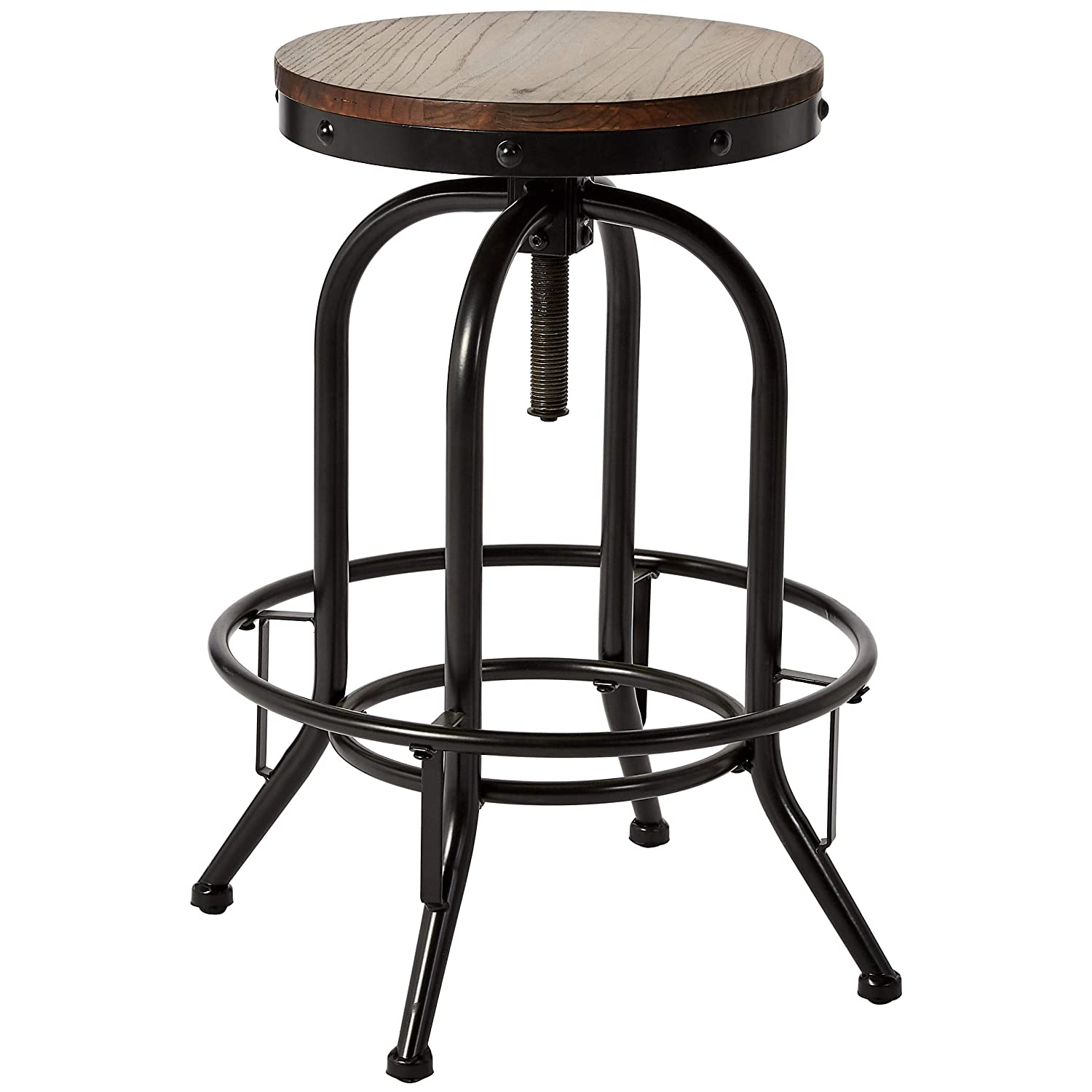 Super Pioneer Square Dane Metal And Wood Bar Height Swivel Bar Stool Set Of 2 Country Brown Dailytribune Chair Design For Home Dailytribuneorg