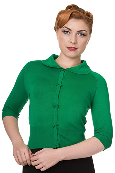 1940s Sweater Styles Banned Womens April Short Sleeve Cardigan $38.99 AT vintagedancer.com