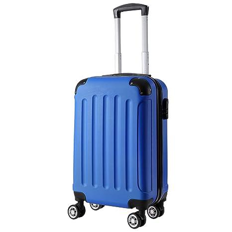 Befied Maleta cabina 50cm 32L de ABS con 4 ruedas Multidirección para viaje (Azul)