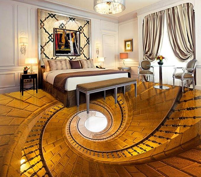 Yosot Papel pintado Suelo 3d piso de escalera escalera de caracol piso de la cocina personalizada piso de sala de estar autoadhesiva impermeable-200cmx140cm: Amazon.es: Bricolaje y herramientas