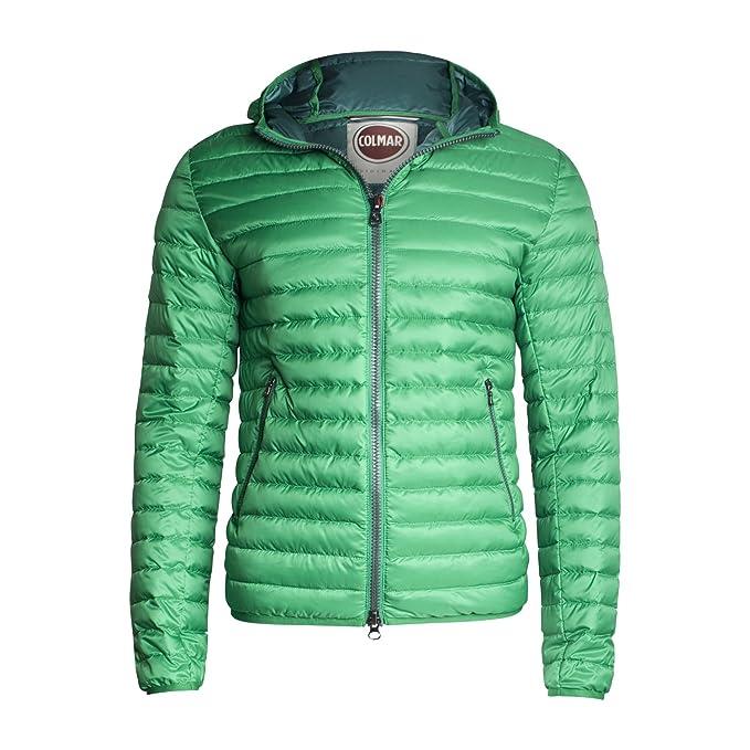 Piumino con cappuccio fisso per uomo di Colmar Originals Colore Verde  Collezione Primavera estate in tessuto ultraleggero (54)  Amazon.it   Abbigliamento 47ba775eafb