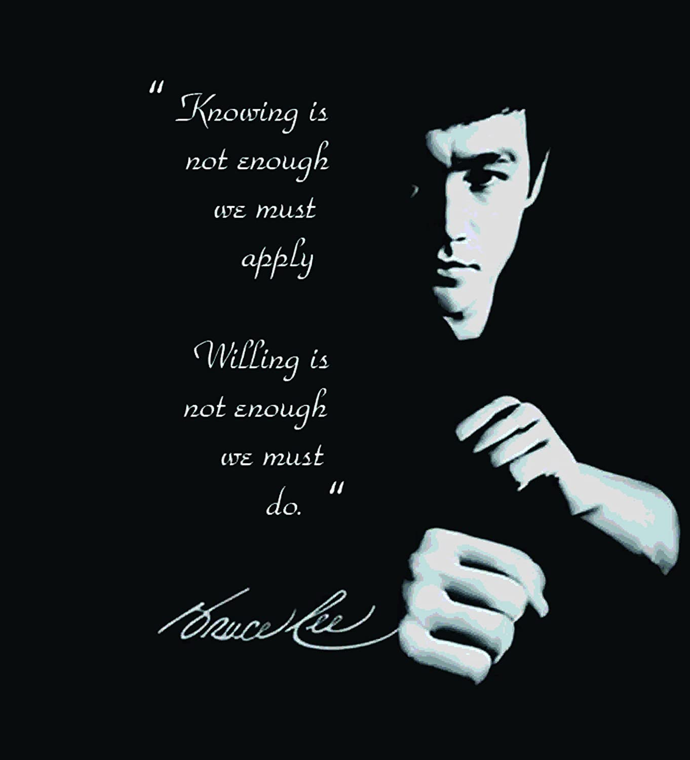 Posterboy 'Bruce Lee Quote' Poster (30.5 cm x 40.6 cm, Black and White))