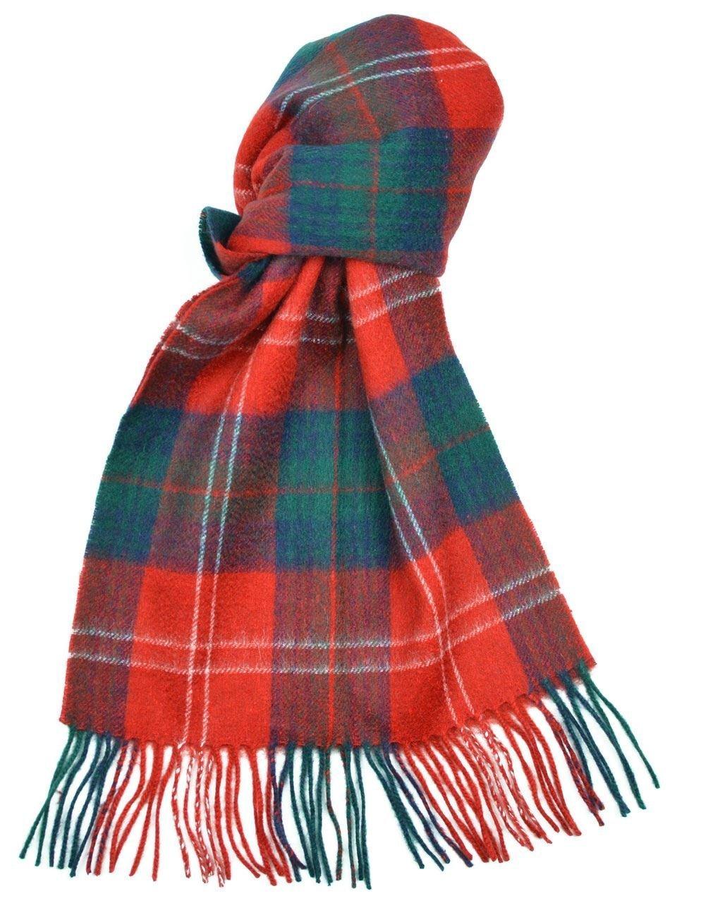 Lambswool Scottish Clan Scarf Chisholm Modern Tartan
