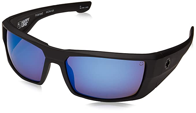 076f925956 Amazon.com  Spy Optic Men s Dirk Matte Black Polarized Wrap