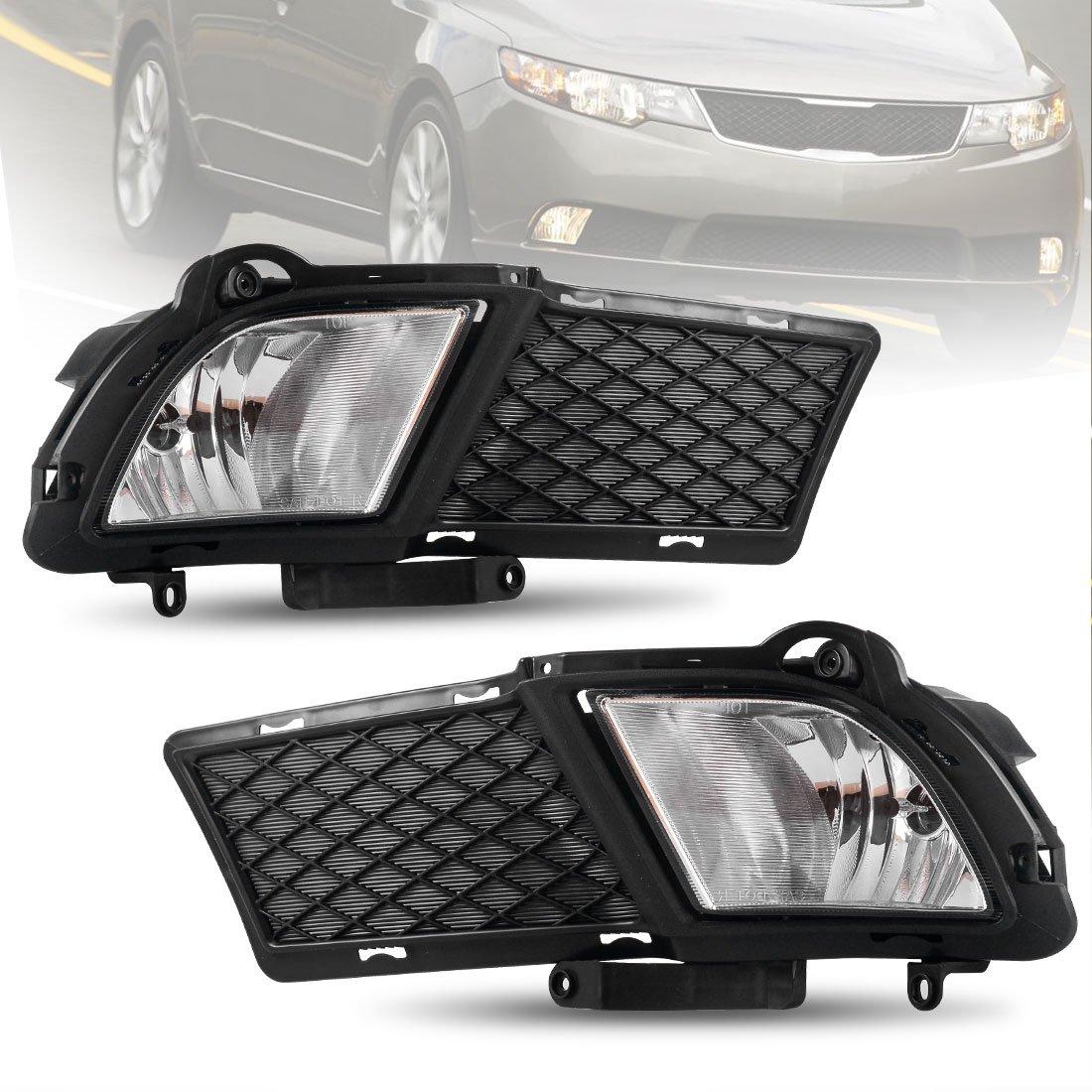 Amazon.com: AUTOSAVER88 Fog Lights for Kia Forte Sedan 4 Door 2010 2011  2012 (OE Style 881 Halogen 12V 27W Bulbs & Wiring Harness): Automotive