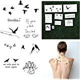Birds Temporary Tattoo Pack (Set Of 18)