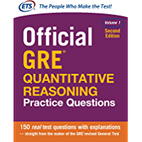 Official GRE Quantitative Reasoning Practice Questions, Volume 1, Second Edition