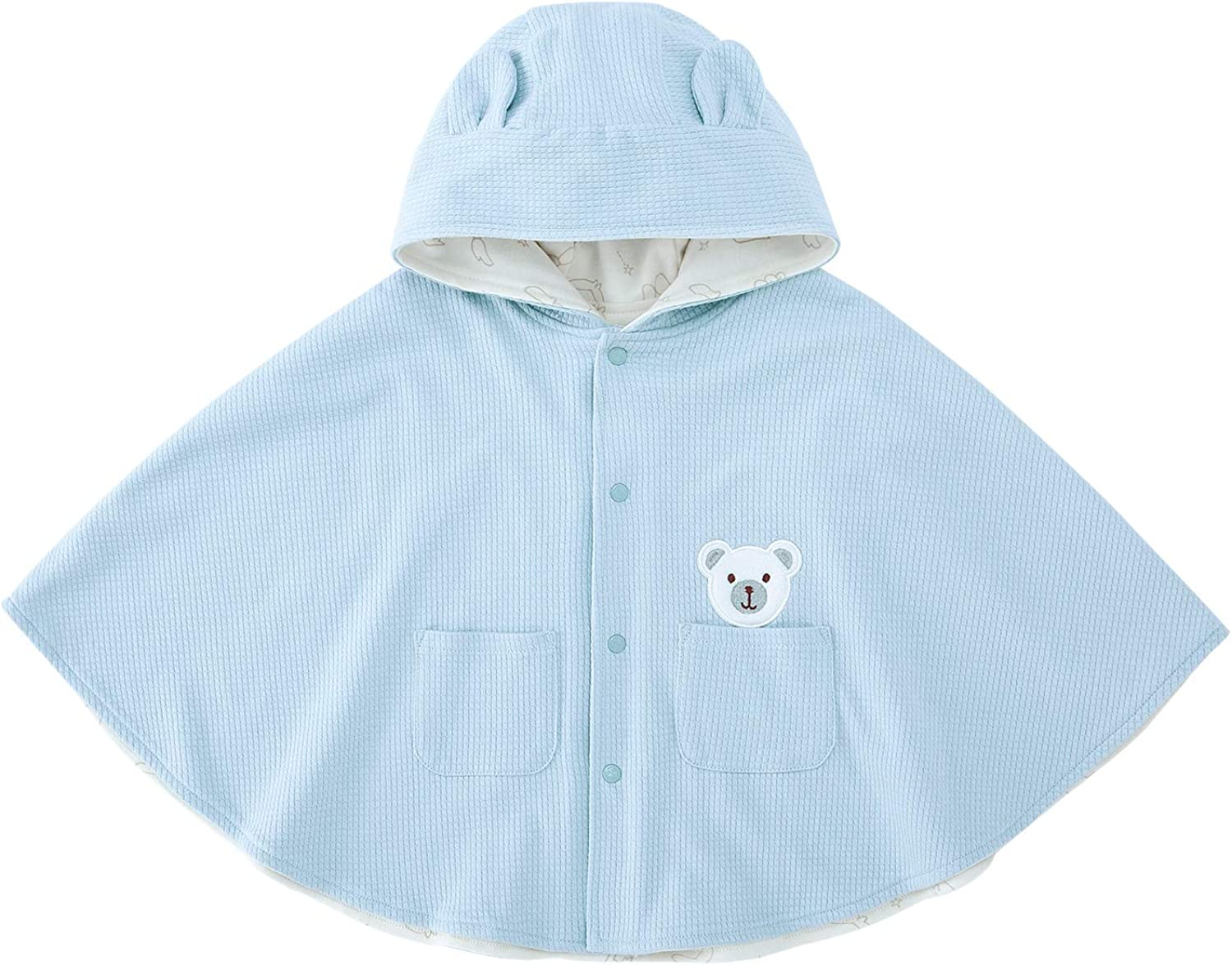pureborn Baby Hooded Carseat Poncho Cape Cloak Fleece Coat Snowsuit Winter Outfit 0-3 Years