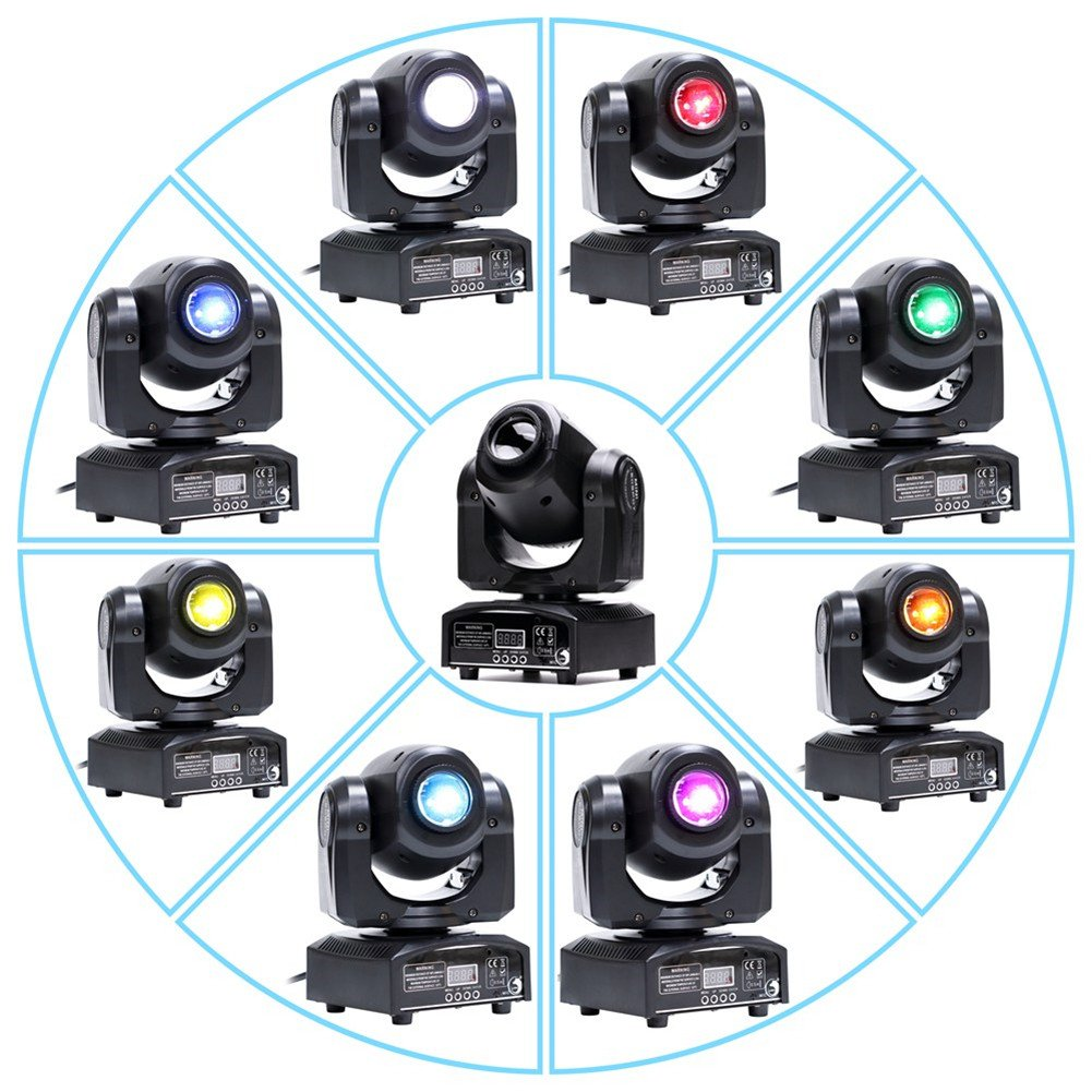 U`King LED Moving Head Light Spot 4 Color Gobos Light 25W DMX with Show KT V Disco DJ Party for Stage Lighting by U`King (Image #4)
