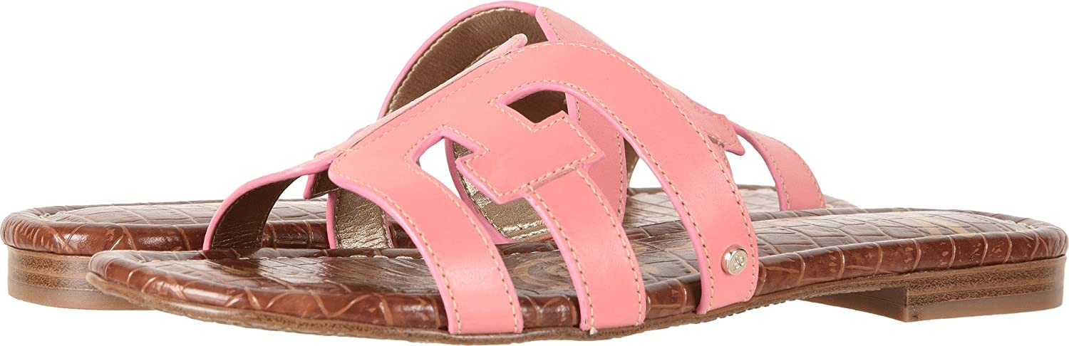 Sam Edelman Women's Bay Slide Sandal B0762TMKC3 6 W US|Sugar Pink Vaquero Saddle Leather