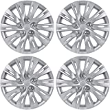 "BDK Toyota Camry Style Hubcaps 16"" Wheel Covers - 2012, 2013 Model Replica Cover, Silver, 4 Pieces"