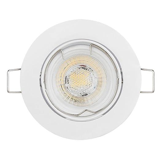 Incroyable HCFEI Lot de 6 Spots LED Encastrable en blanc 6x5W 420lm QK-45