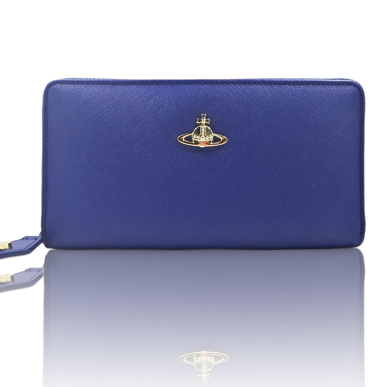 Vivienne Westwood ヴィヴィアン ウエストウッド 財布 55306 長財布 小銭入れ レディース土星財布 8色選び[アウトレット] [並行輸入品] B07C1LY1BQ ブルー ブルー