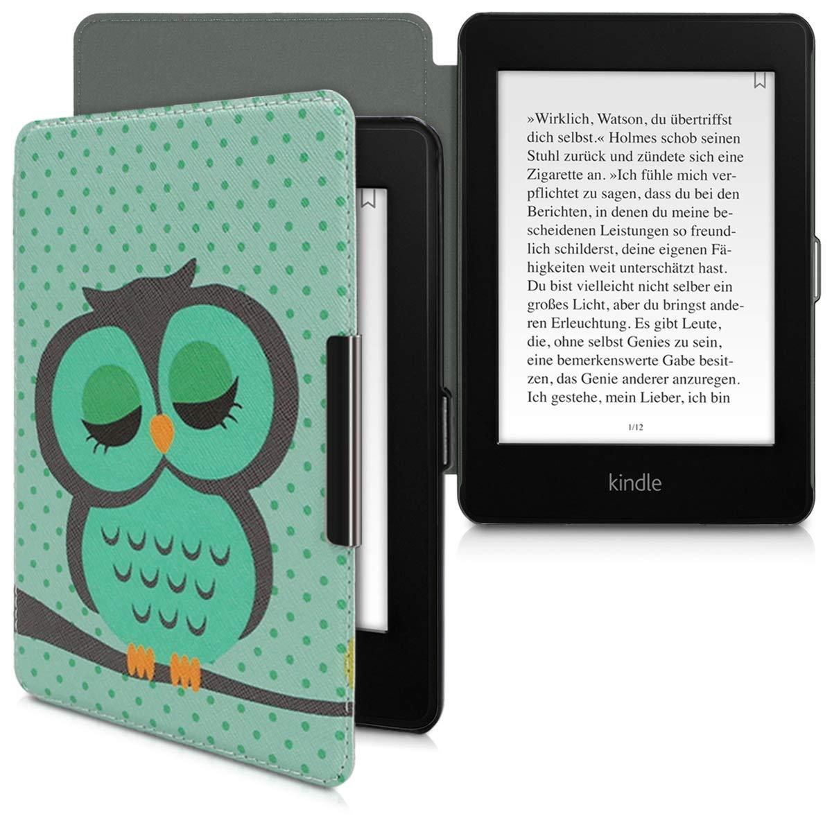 kwmobile Funda para  Kindle Paperwhite Oro Rosa Cuero sint/ético - Carcasa para e-Reader de - Case en 10. Gen - 2018