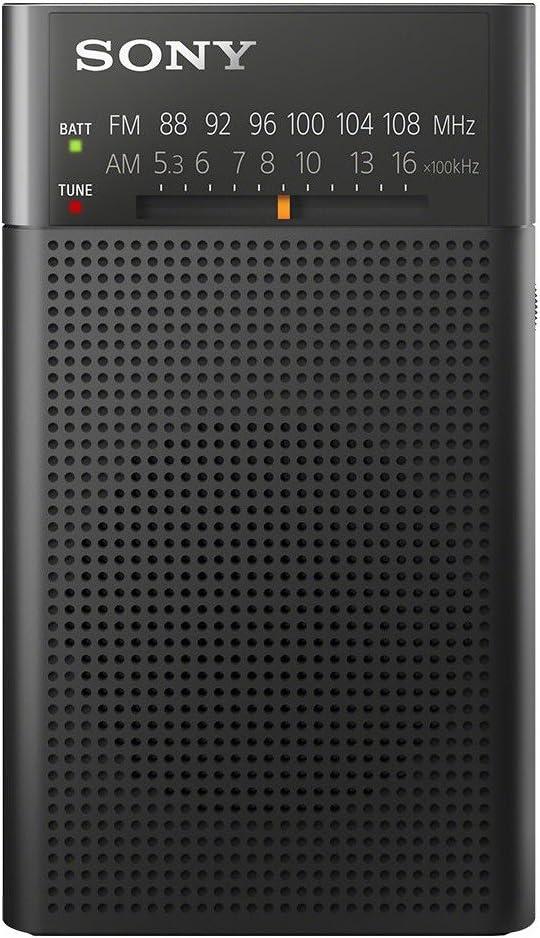 Sony ICF-P26 - Radio portátil (con altavoz y sintonizador AM/FM), negro