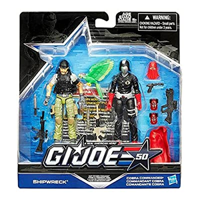 G.I. Joe, 50th Anniversary, Hunt for Cobra Commander Action Figure Set [Shipwreck vs. Cobra Commander], 3.75 Inches: Toys & Games