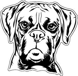Boxer Vinyl Sticker Decal - Dog Breed Sticker, for Tumblers, Laptops, Car Windows - Canine Owner Gift