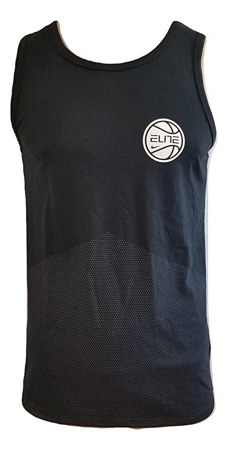 694826ab73b Amazon.com: NIKE Dry Elite Men's Sleeveless Black Tank Top Size L ...