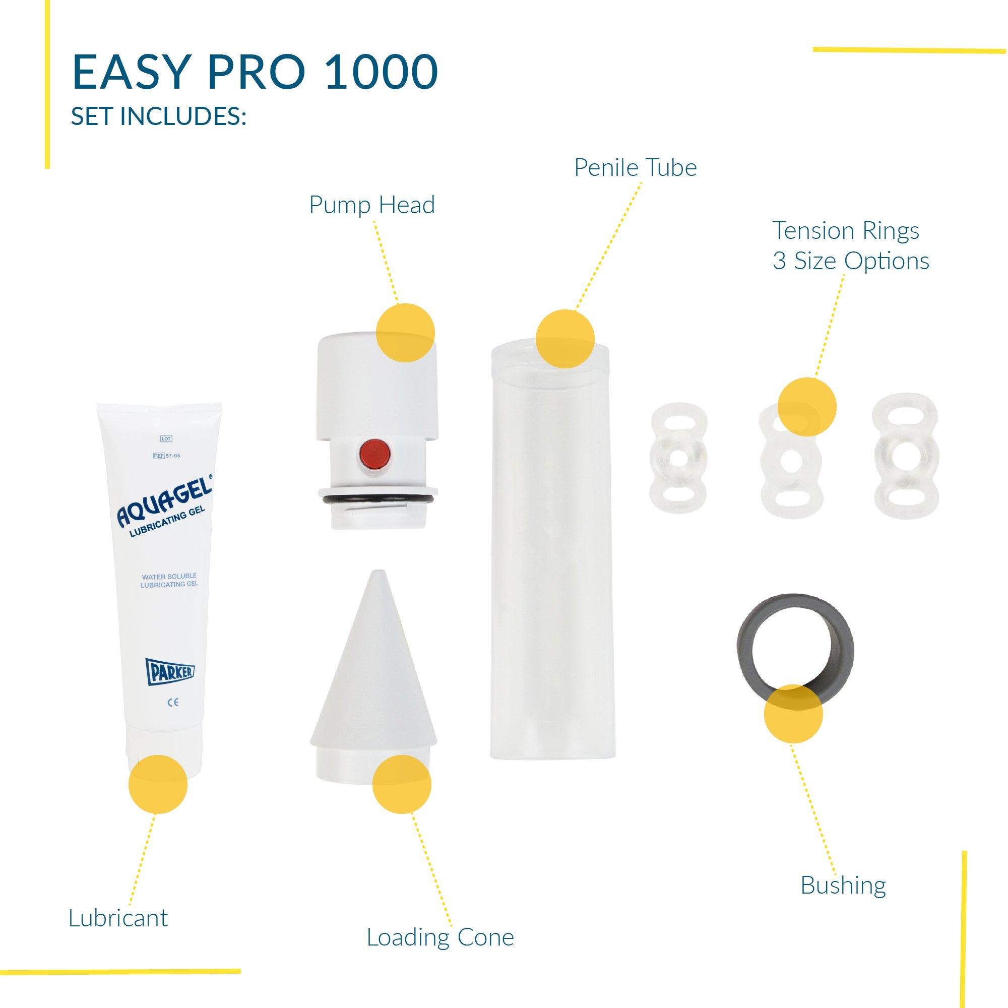 Vacuum Pump for Men, Natural Alternative to Erectile Dysfunction Pills, Manual Penis Pump, Men's Pump Kit for Erectile Dysfunction - Pos-T-Vac, Easy Pro 1000 by POS-T-VAC (Image #3)