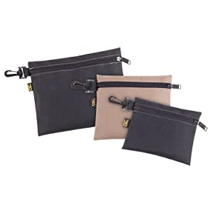 CLC Custom Leathercraft 1100 Multi-Purpose Clip-on Zippered Poly Bags, 3 Pack