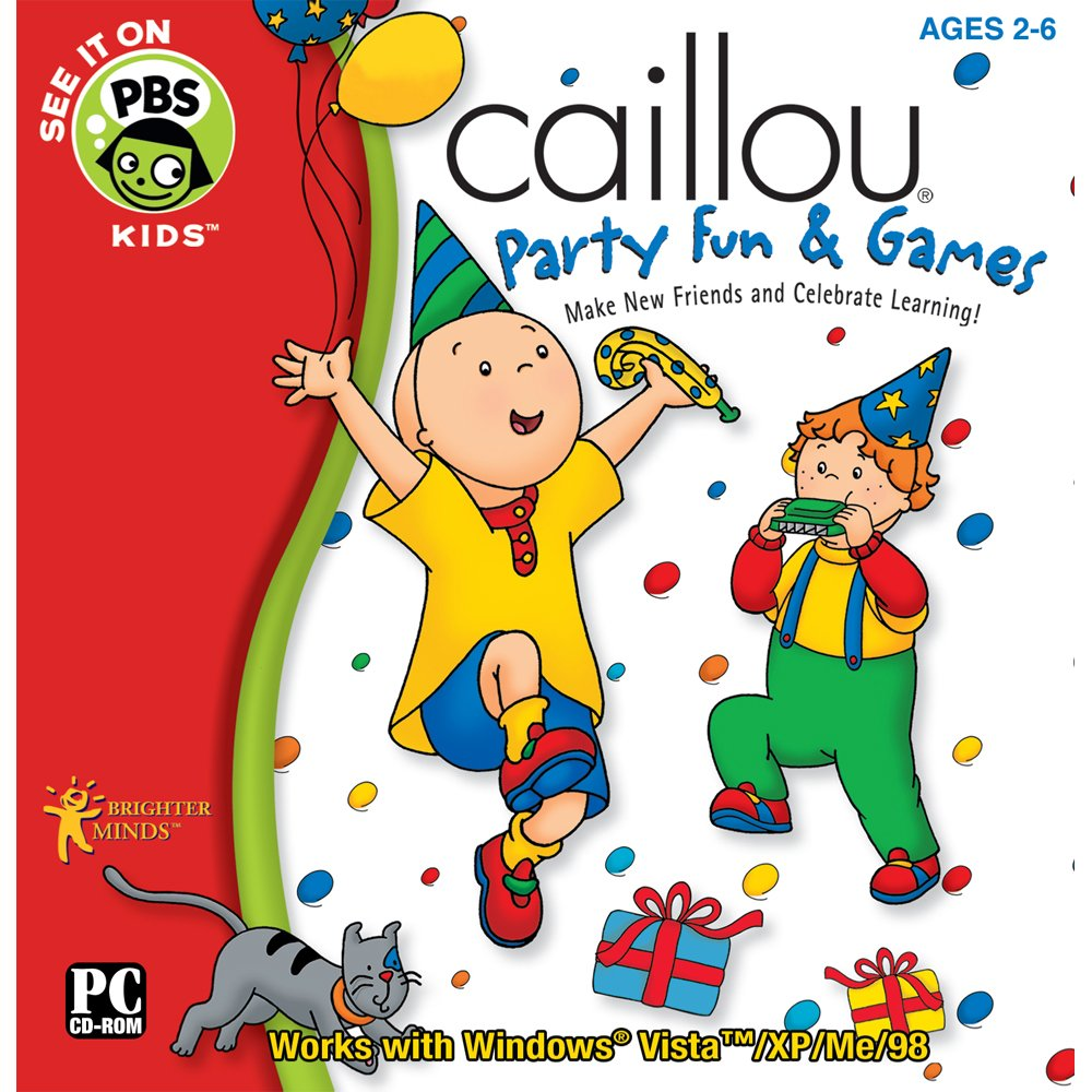 Caillou Party Fun and Games Software [Old Version] by PC Treasures