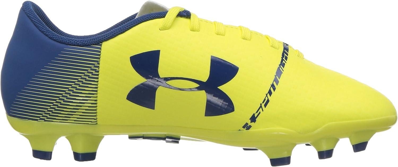 Tokyo Lemon //Moroccan Blue Firm Ground Soccer Shoe 300 Under Armour Unisex-Child Spotlight DL Jr 5.5