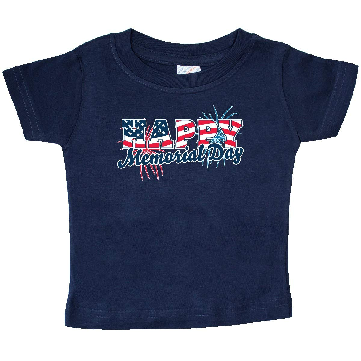 inktastic Happy Memorial Day with Fireworks Baby T-Shirt