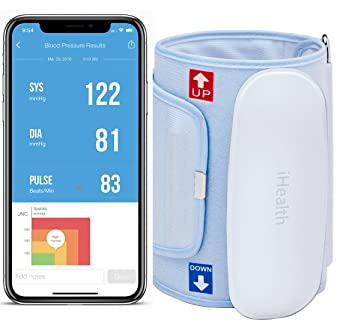 Ihealth Feel Bp Wireless Blood Pressure Monitor And Travel Pouch
