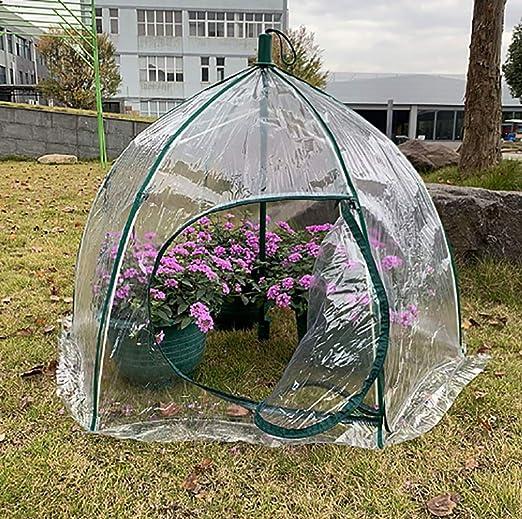Invernadero Jardín de PVC Invernadero con Estructura metálica - Transparente (Tamaño: 105 * 105 * 78 cm): Amazon.es: Hogar
