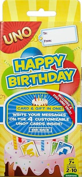Mattel Games - UNO ¡Feliz Cumpleaños!, Juego de Mesa (CGJ06): Amazon.es: Juguetes y juegos