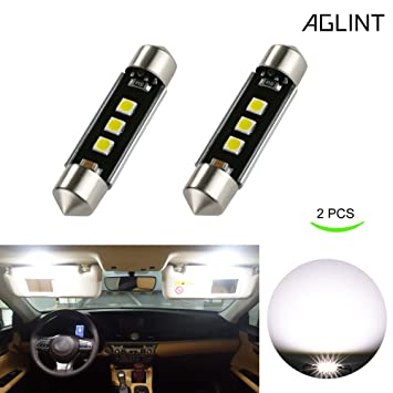 AGLINT 39mm C5W LED CANBUS Bombillas LED Coche 3030 3SMD 6000K Xenon Blanco Luz LED Bombillas