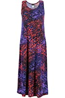 Jostar Women's Stretchy Long Tank Dress Print