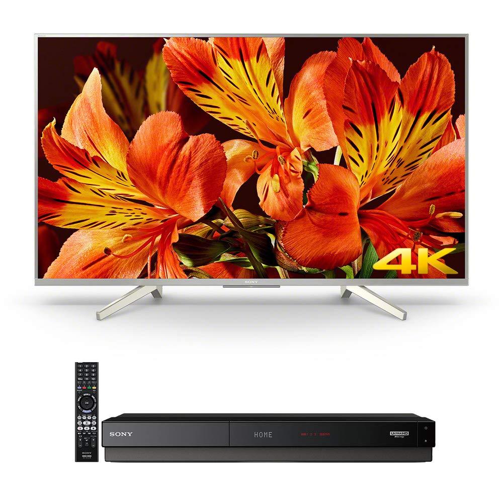 ソニー SONY 43V型 液晶 テレビ ブラビア KJ-43X8500F S 4K(ブルーレイレコーダー/DVDレコーダー BDZ-FT1000 1TB 3チューナー UltraHDブルーレイ対応付) B07LBWV5HC 2)シルバー 43インチ