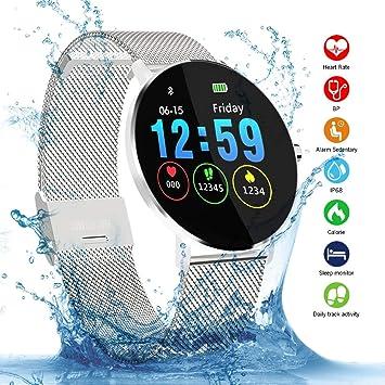 Smartwatch, Kivors IP68 Impermeable Reloj Inteligente Classic ...