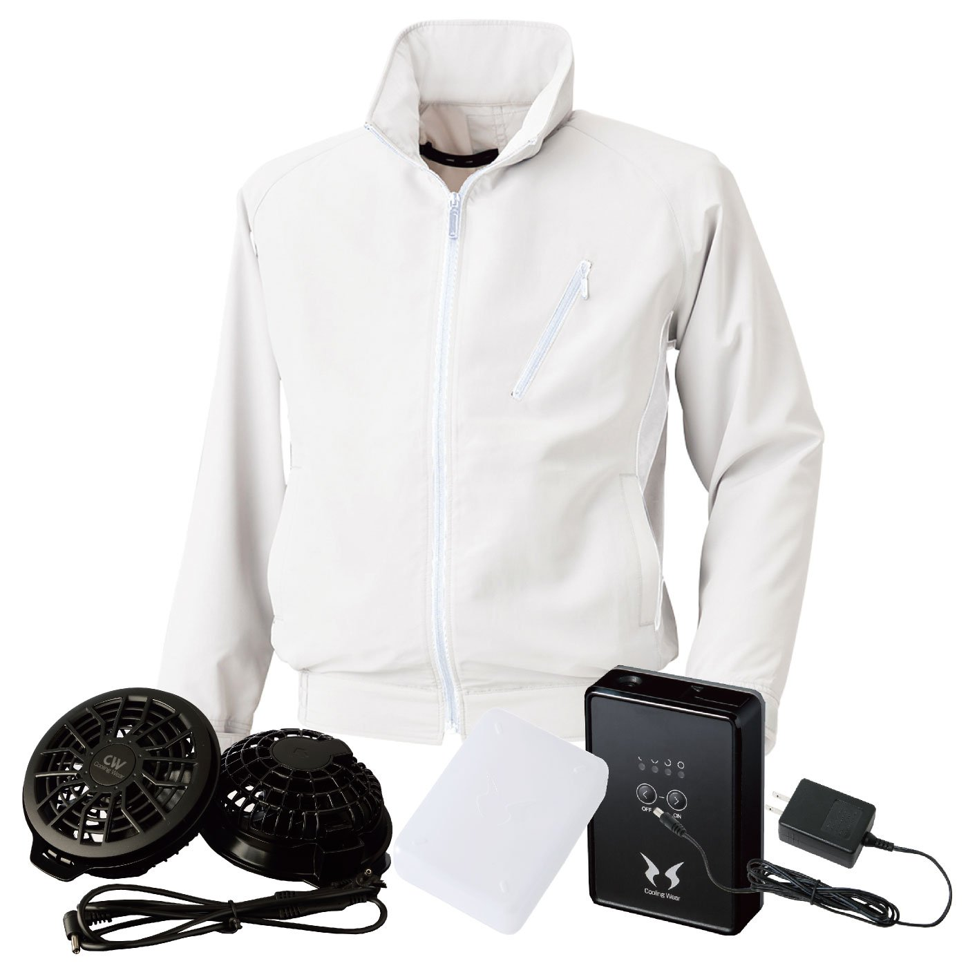 bigborn(ビッグボーン) 空調風神服 空調服 bb-bk6057-l 【空調服+ファン+バッテリー】 B07CSBWYRK 5L|ホワイト ホワイト 5L