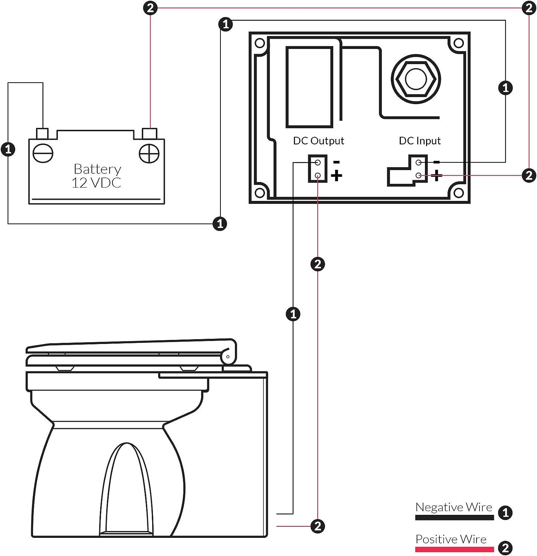 12V FO-1599-1 TMC Marine Electric Toilet Medium Household Style ...