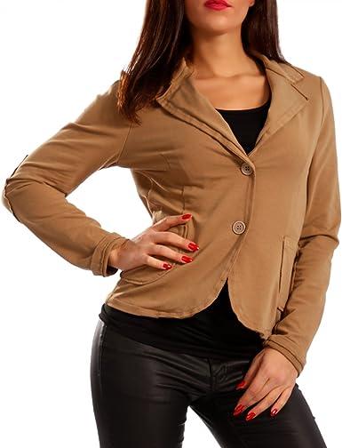 Chaqueta corta (blazer) para mujer, algodón, estilo vintage ...