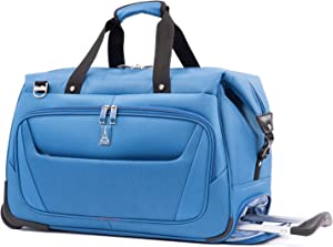 Travelpro Maxlite 5-Carry-On Rolling Duffel Bag, Azure Blue, 20-Inch