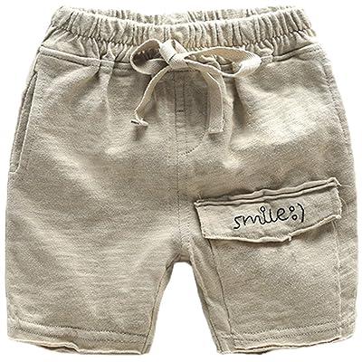 Baby Kid Little Boy Letter Print Pocket Drawstring Shorts Summer Short Pants
