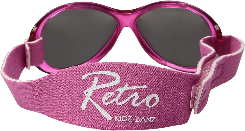 UV400 per circonferenza testa 40/ Baby Banz 01091/Occhiali da sole Retro Kidz con elastico in neoprene circa fino a 2/anni Rosa /52/cm