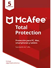 McAfee Total Protection | 5 Dispositivos | 12 Meses | PC/Mac | Código de activación enviado por email