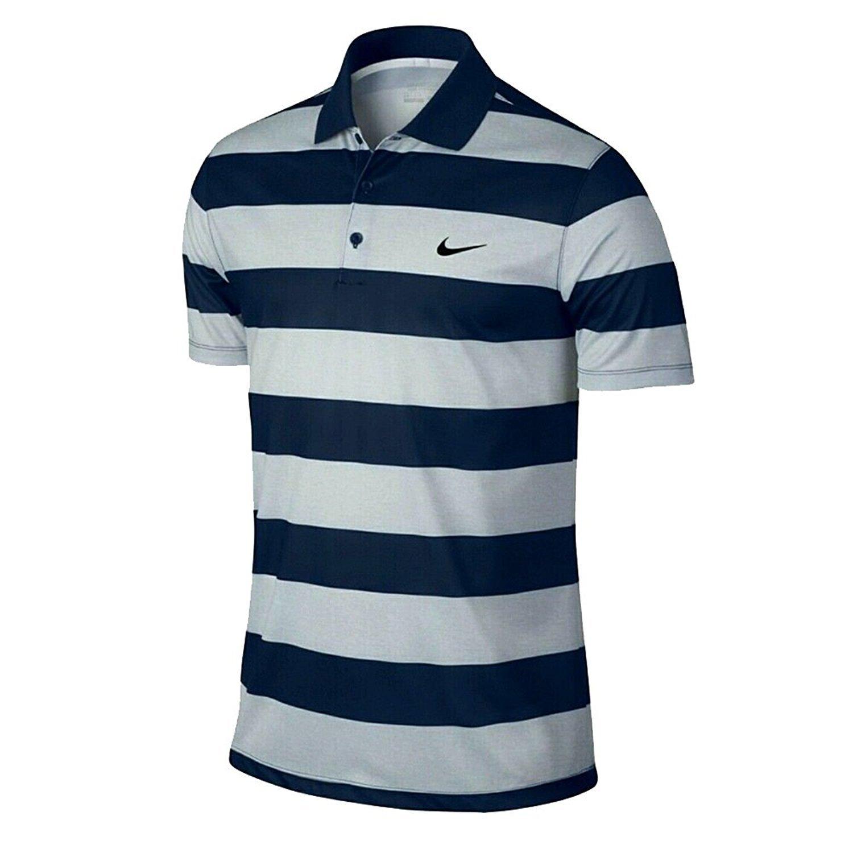 Nike Victoria Golf Mens Bold Stripe Polo Blanco Azul 410 873449 ...