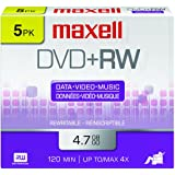 Maxell 634045 4.7Gb Dvd+Rw Disc Slim Jewel (Packaging may vary)