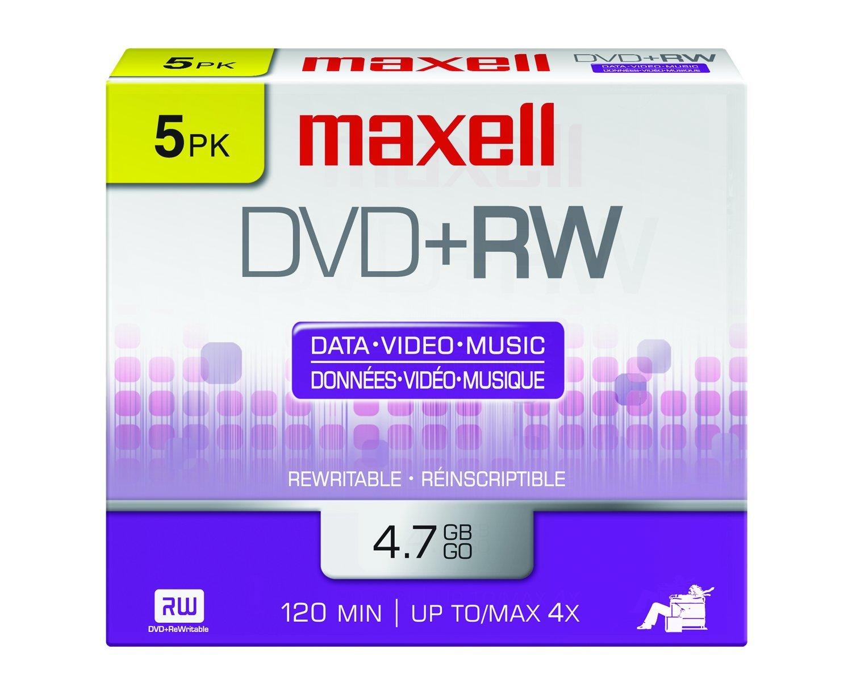 Verbatim dvd rw 4 7gb 4x with branded surface 30pk spindle 4 7gb - Maxell 634045 4 7gb Dvd Rw Disc Slim Jewel